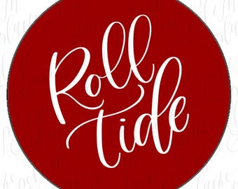2 Designs | Alabama Crimson Tide Simple Roll Tide Game Day Buttons Pins