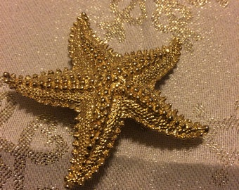 Lovely Gold Tone Starfish by Gerrys