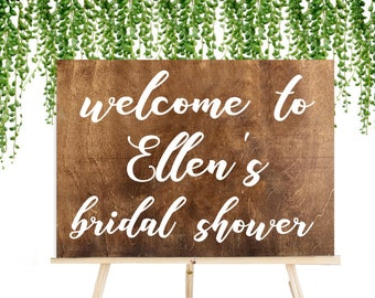 Wooden Bridal Shower Sign, Rustic Wedding Signs, Bridal Shower, Rustic Bridal Shower, Baby Shower Sign, Welcome Sign