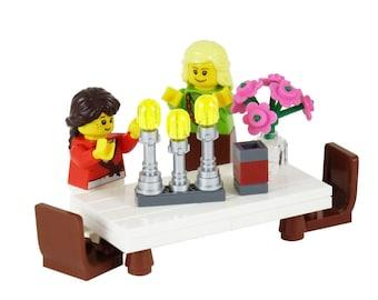 Shabbat Candles Set - Mother and Daughter - Jewish Custom Lego® Set from JBrick