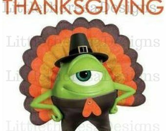 Monster Inc Happy Thanksgiving Transfer