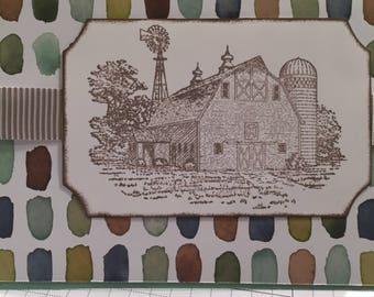 Farm scene handmade card