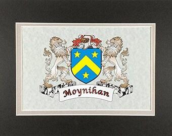 "Moynihan Irish Coat of Arms Print - Frameable 9"" x 12"""