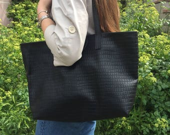 Tote Bag, Leather Bag, Leather Tote Bag