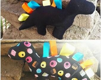 Taggisaurus kids / baby taggy blanket teddy
