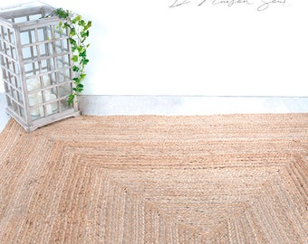 Jute Handwoven Rug. Natural Rug. Natural Home Decor. Braided Jute Rug. Sustainable Decor. Scandi Style. Feng Shui Inspiration.