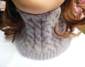 Snood neck old pink color