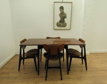 Mid Century Modern Retro Teak G Plan Dining Table & 4 Butterfly Dining Chairs