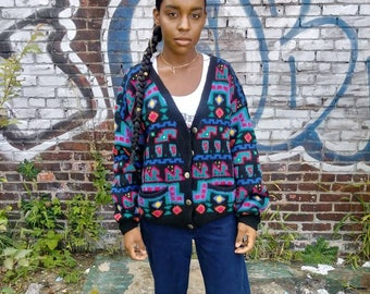 Vintage LL Bean womens cardigan sweater size large in
