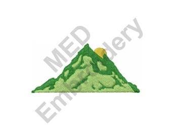 Mountain Scene - Machine Embroidery Design
