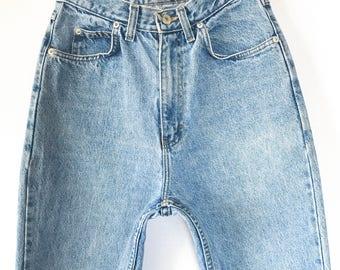 Vintage Jordache Jeans 25 26, Jordache High Waist Mom Jeans 25 26 inch waist, Jordache High Waist Tapered Leg Mom Jeans, Size 4 Size 6
