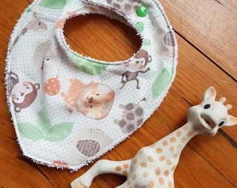 Jungle Animal Dribble Bib