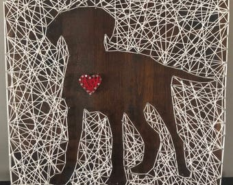 Dog Inverse String Art