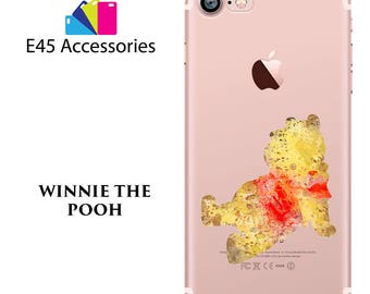 WINNIE The POOH Disney Watercolour Hard Case for iPhone 5S 5 SE, iPhone 6S 6 or iPhone 7