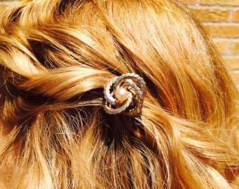 Vintage Bronze Hair Comb
