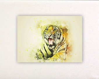 Tiger - Watercolor prints, watercolor posters, nursery decor, nursery wall art, wall decor, wall prints 1 | Tropparoba 100% made in Italy