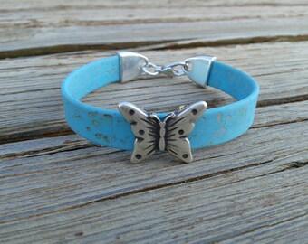 Butterfly bracelet -  vegan  jewelry