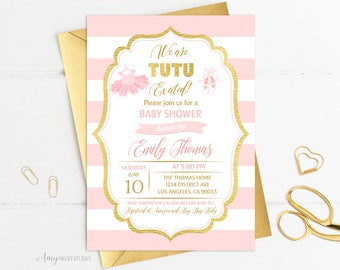 tutu baby shower invitation ballerina baby shower invitations blush pink and gold baby