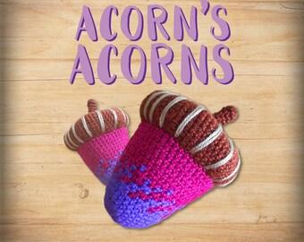 Acorn's Premium Crocheted Acorns [ Pink & Purple ]