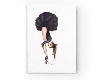 Dancer's Notebook featuring Black Swan illustrated frontcover