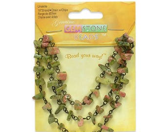 "Expo Unakite Chain with Chips - 18"" Strand"