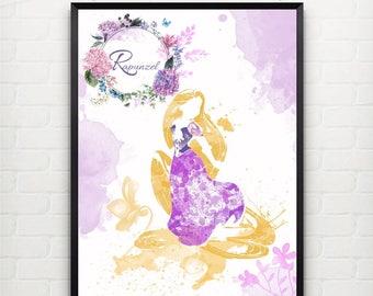 Rapunzel Disney Princess Wall Art FRAMED