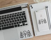 Trees Decal Adventure Decal Nature Decal Laptop Decal Computer Decals Window Decals Mug Decal Car Decal Yeti Decal LD031