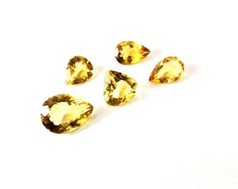 Citrin faceted gemstone 10 to 16mm
