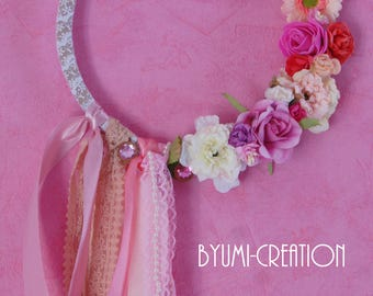 Pink decorative wreath