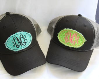 Monogrammed Raggy Patch Hats