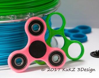 Fidget spinner / Hand spinner fidget toy / Fidget spinner 3D printed / Tri fidget spinner design / Custom color fidget spinner