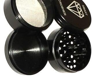 4 Piece Titanium Magnetic Coffee Spice Tobacco Herb Grinder Crusher Black