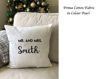 Custom Cushion Cover, Personalised Cushion Cover, Wedding Gift, Engagement Gift, Birthday Gift