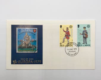 Postal Uniforms | Postman Uniforms | 1 Vintage 1979 C.E.P.T.- History of the Post First Day of Issue Envelope with 2 Stamps