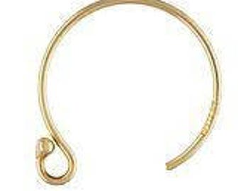 14k Gold Filled Circle Ball End Ear Wire GP (GP-4006401)