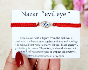 Evil eye bracelet Red Kabbalah Bracelet Good luck bracelet Evil eye jewelry Eye bracelet Red String Bracelet Evil eye charm Gift for her