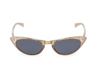 1950s 60s style CAT EYE Champagne Gold Pearl sunglasses NEW made to original vintage design 'Peggy'