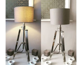 Chrome tripod lamp