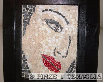 Full frame mosaic picture: Lips