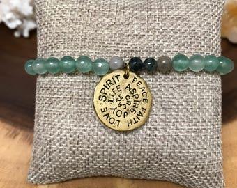 Green Aventurine & Fancy Jasper Spirit Coin