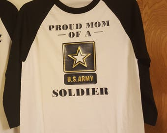 proud mom or dad to a US army soldier