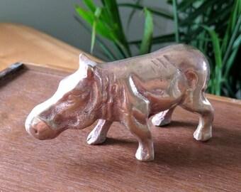 Vintage Brass Hippo | Vintage Brass Knick Knacks | Brass Animal