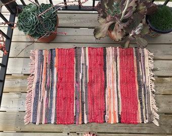 Handmade Vintage Rag Rug