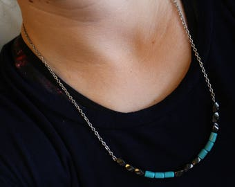 Magnets and Turquoise Necklace