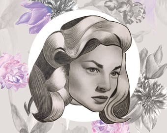 Lauren Bacall exclusive limited edition print