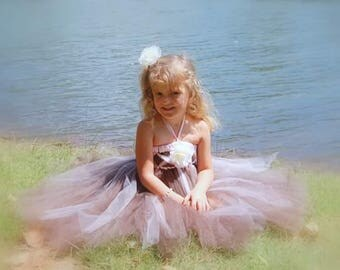 Beautiful custom tutu dress! For Birthday, Pageant, Costume or Flower Girl for weddings. Girl's Sizes Preemie - 4T.