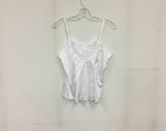 White silk/lace camisole