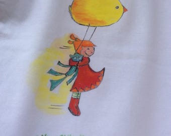 """""""Air game"""" on white t-shirt, size 3 years"""