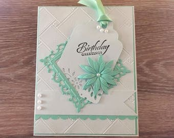 Birthday Greetings Embellished Card