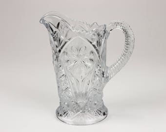Vintage Imperial Glass La Rochelle Cosmos 474 Pitcher, 16 oz., Clear